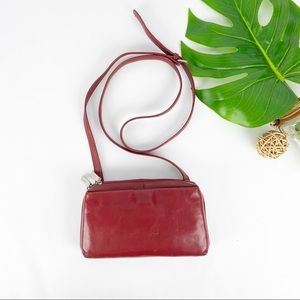 Hobo International Crossbody Mini Bag Red Leather